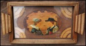 Pyrography Tea Tray Quimper