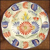 Flowered Plate HB Quimper