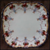 Bisto English Porcelain Plate Bishop & Stonier 1900