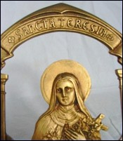 Ex Voto of Sancta Teresia Golden Bronze