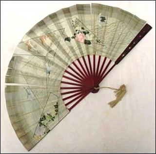 Japanese Hand Fan Double Face 1900
