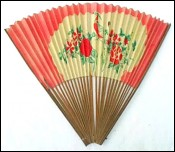 Japanese Hand Fan Double Face 1930