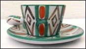 Coffee Cup Hyevre Vallauris French Majolica