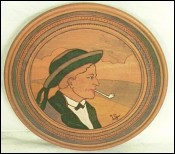 Wooden Plate Breton Baud near Quimper
