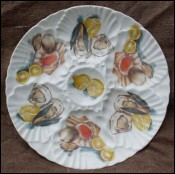 Vintage French China Oyster Plate l'Hirondelle