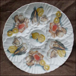 French China Oyster Plate Hirondelle 1960