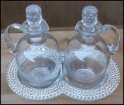Cruets with Tray Depression Glass 1925