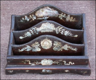 Mother of Pearl Inlayed Document Box Southeast Asian 1940