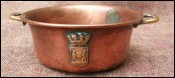 French Copper Miniature Candy Jam Pan for Doll House 1950