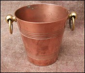 French Copper Miniature Ice Bucket for Doll House