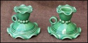 Majolica Pair of Candle Holder Vallauris Cerenne
