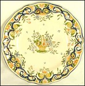 Plate Decorative Rouen no Quimper 1920