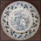 English Majolica Decorative Plate David Johnston