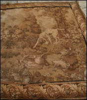 Flemish European Wall Hanging Tapestry Hunting 1920