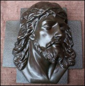 Solid Bronze Head of Christ X Rani 1935