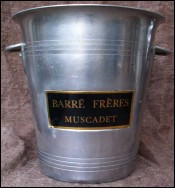 French Barre Muscadet Wine Ice Bucket Cooler