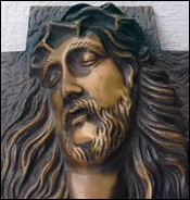Head of Christ Bronze A Barthelemy 1920