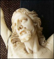 Rare Large French Jansenist Ivory Corpus Christ  1580 16th Century