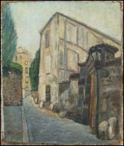 The Folie Bertin Balzac House Oil Canvas G Ballerat Paris 1940