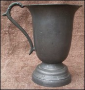 French Pewter Goblet Tankar 18th Century