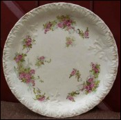 Plate Roses Relief Stoke on Trent Straffordshire 1900