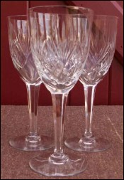 French Chantilly Saint Louis Cut Clear Crystal 3 American Glass
