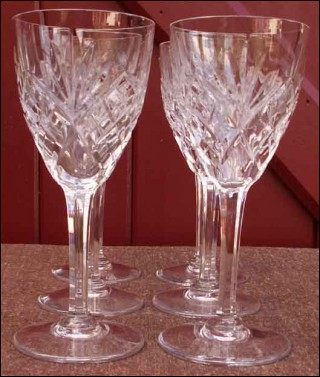 Six verres continental eau chantilly cristallerie de saint louis - Verre saint louis prix ...