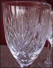 French Chantilly Saint Louis Cut Clear Crystal 6 Claret Wine Glass