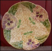 Pansy Decorative Plate French Majolica 1880