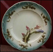 French Majolica Asparagus Plate 1880 - 1900