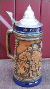 Large 11 inches 1/2 German Beer Stein Souvenir Gerz 1950