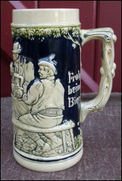 Ceramic Beer Stein Genz Germany 1940