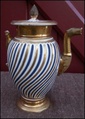 Old Paris Porcelain Coffee Pot Napoleonic Empire Peiod 1810