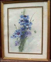 Bouquet de bleuets Juliette Bordier-Menard 1882 1941