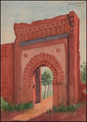 French Orientalist Gate of Sale Moroco Guiraud Riviere Art Deco 1933