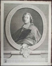 Jacques de Verthamon Bishop of Constans Etching Pierre Drevet 1761