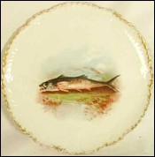 Paul Comolera Pike Plate Limoges France 1855