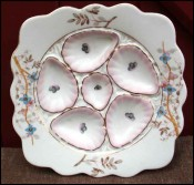 Porcelain Oyster Plate Marx and Gutherz Carlsbad 1900