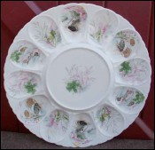 French Porcelain Oyster Server Dish Limoges Charles Ahrenfeldt 1960