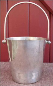 French Art Deco Silver Plate Ice Champagne Bucket 1930