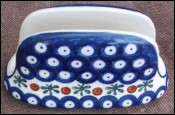 Letter or Napkin Holder Boleslawiec Polish Pottery
