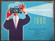 Catalogue 1960 etablissement ALEA Paris photo cinema