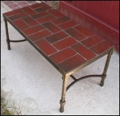 Table basse en fer forge Art Deco 1940