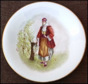Decorative Plate Young Bulgarian Paris Porcelain Le Rosay 1890