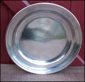 French Nickel Silver Large Round Platter Petits Fours Wedding Holidays Dish