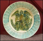 French Russian Friendship Commemorative Plate Sarreguemines 1891