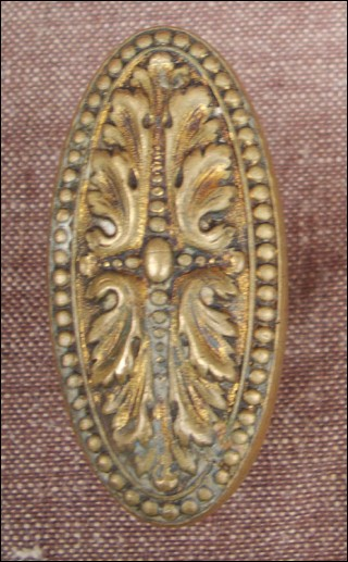 French Victorian Ormolu Bronze Door Knob Handle 1860