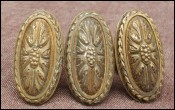 Rare 3 French Victorian Ormolu Brass Door Knob Handle 1860