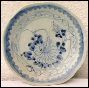 Blue White Chinese Daoguang Porcelain Bowl Plate 19th Century