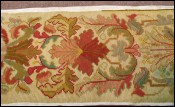 Antique French Needlpoint Flowered Runner Tapestry 1900